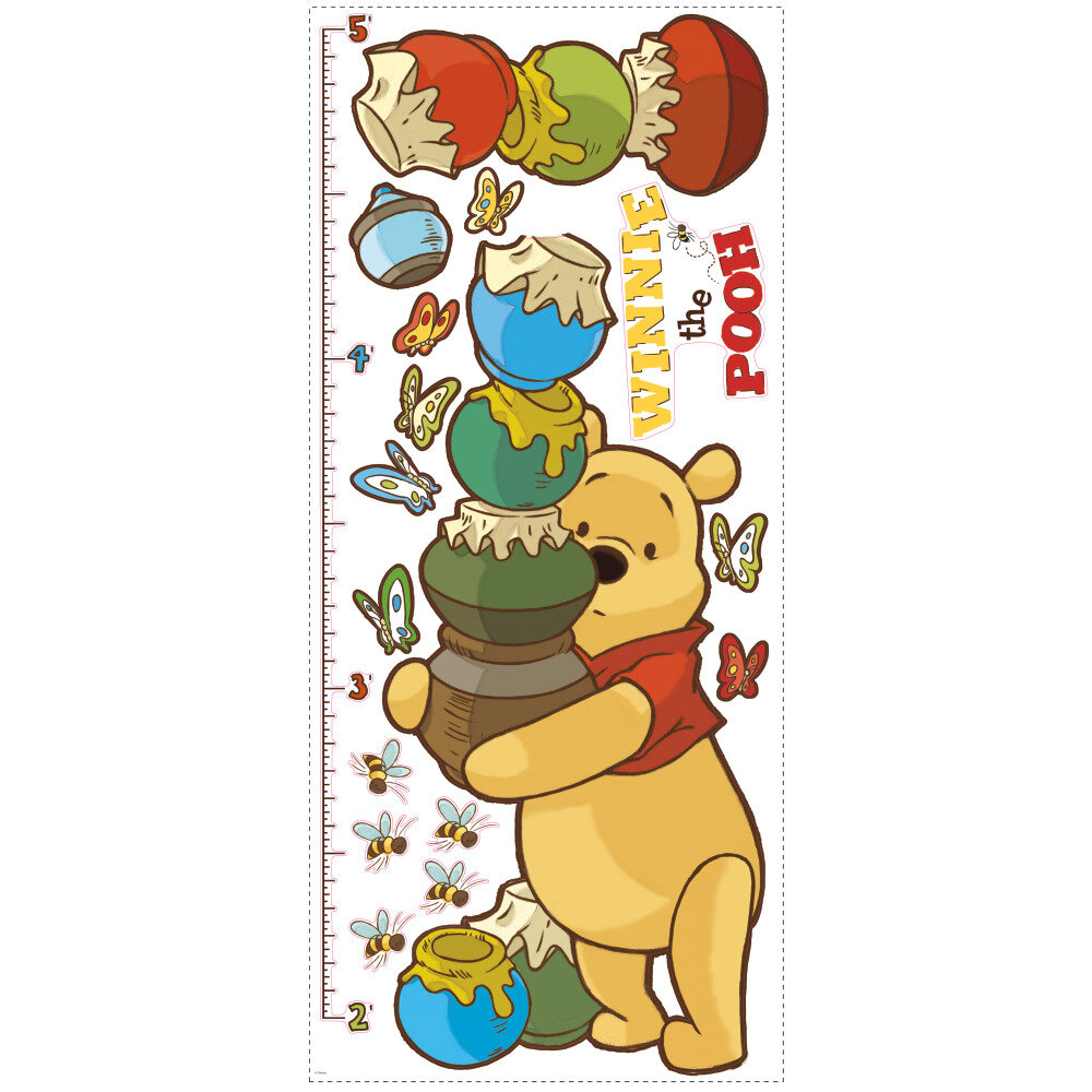 Blue Elephant Pooh Growth Chart Decal Reviews Wayfair Co Uk