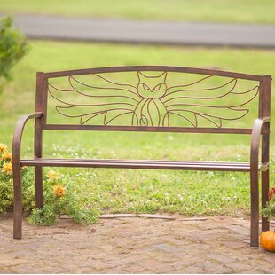 Owl Metal Garden Bench by Wind & Weather