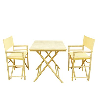 Buyers Choice Phat Tommy 3 Piece Bistro Set   Color: Yellow