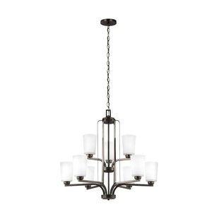 Winston Porter Giana 9-Light Shaded Chandelier