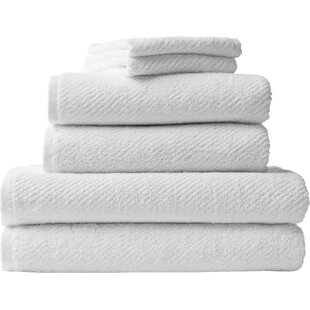 Air Weight 6 Piece 100% Cotton Bath Towel Set (Set Of 6) by Coyuchi New