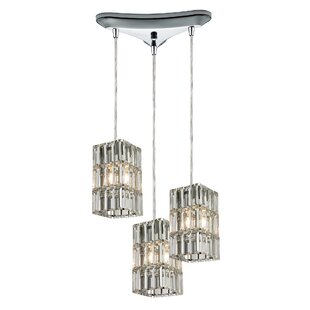 Glossop 3-Light Cluster Pendant by Mercer41