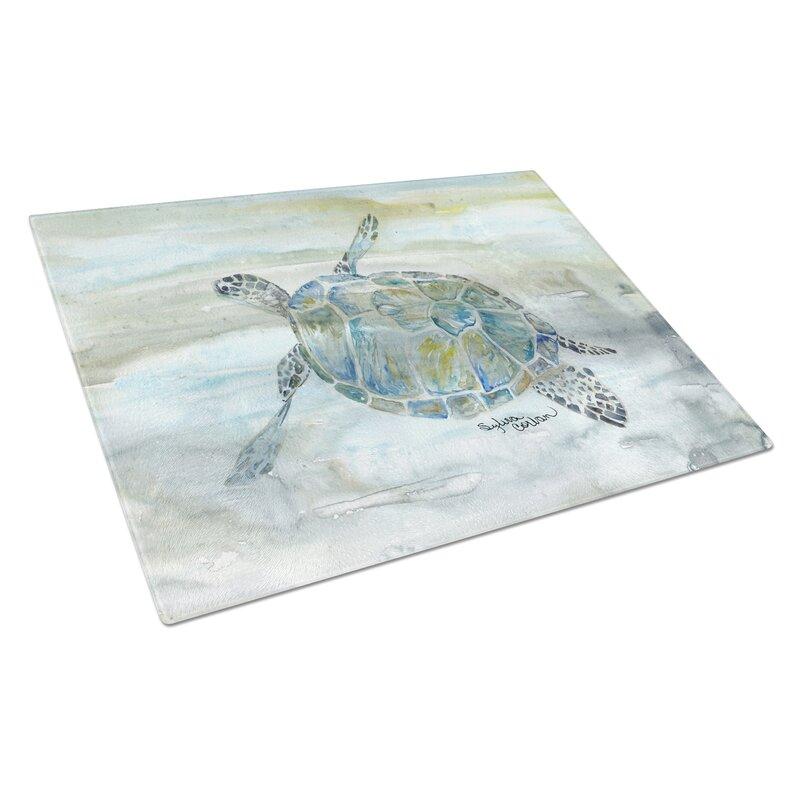 Caroline S Treasures Tempered Glass Sea Turtle Cutting Board Wayfair