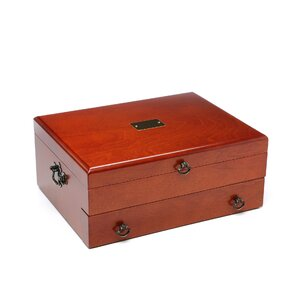 Bristol Cherry Silverware Chest with Brown Lining