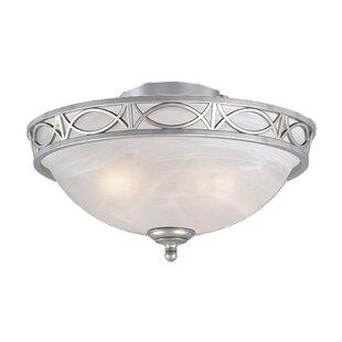 Compare 2-Light Bowl Ceiling By Fleur De Lis Living