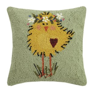 Schuck Chick Hook Wool Throw Pillow