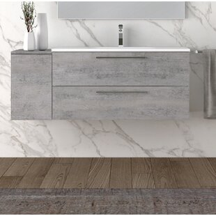 Boa Beton 51 WallMounted Single Bathroom Vanity Set by Orren Ellis