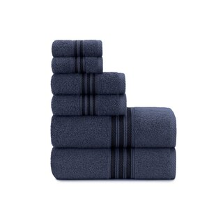 Luxury Soft Ring Spun 6 Piece 100% Cotton Towel Set