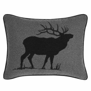 Elk Charcoal Indoor/Outdoor Throw Pillow