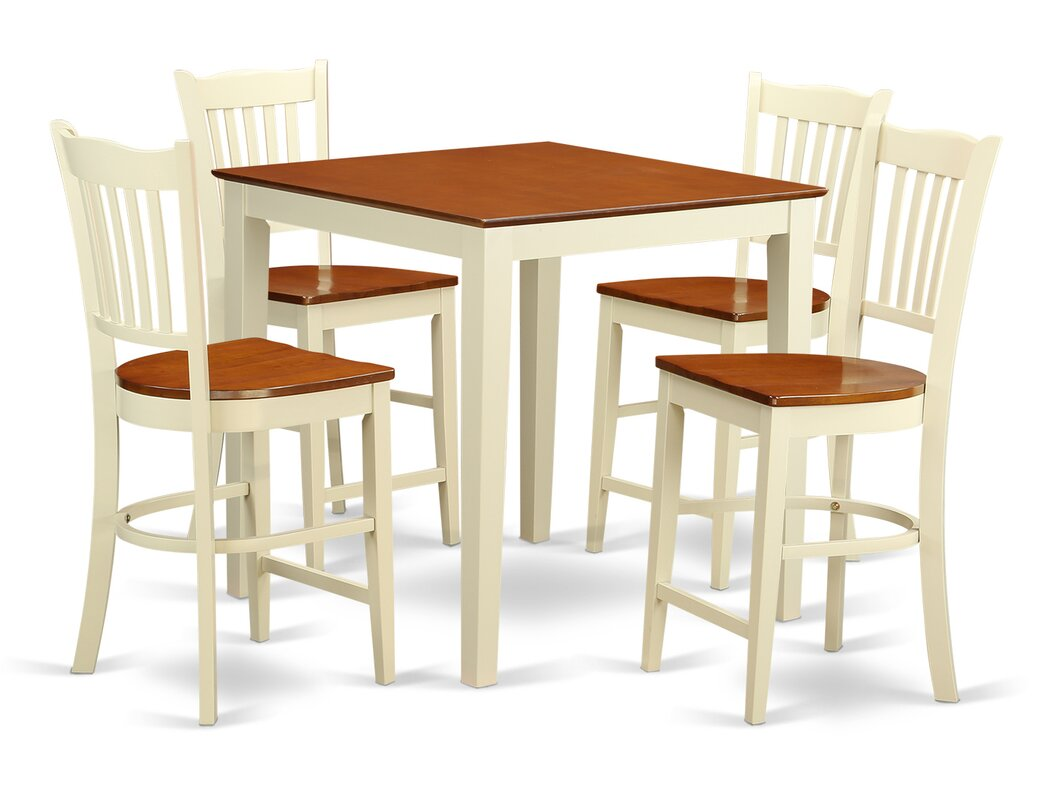 east west vernon 5 piece counter height pub table set