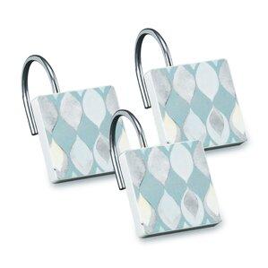 teal shower curtain hooks. Shell Rummel Sea Glass Shower Curtain Hooks  Set of 3 You ll Love
