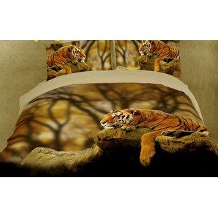 Dolce Mela Dolce Mela Lonely Tiger 6 Piece Duvet Cover Set