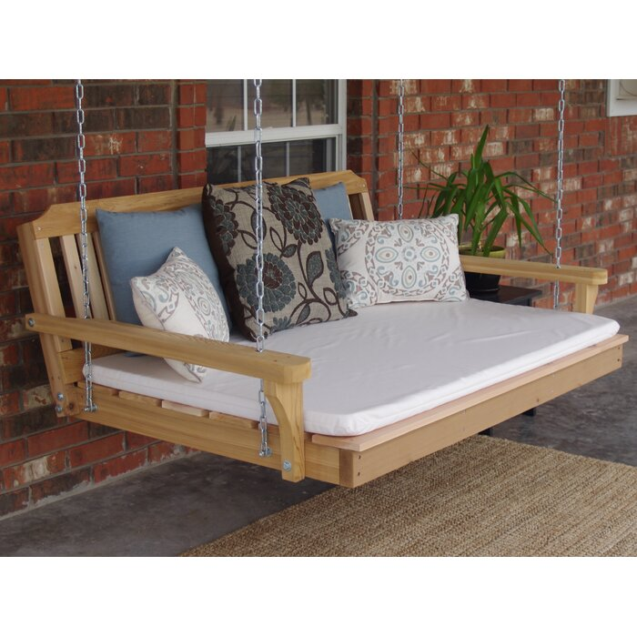 Wendy Cedar Porch Swing Hang From 2 Points