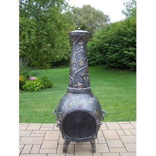 Perfect Leaf Cast Iron Wood Burning Chiminea