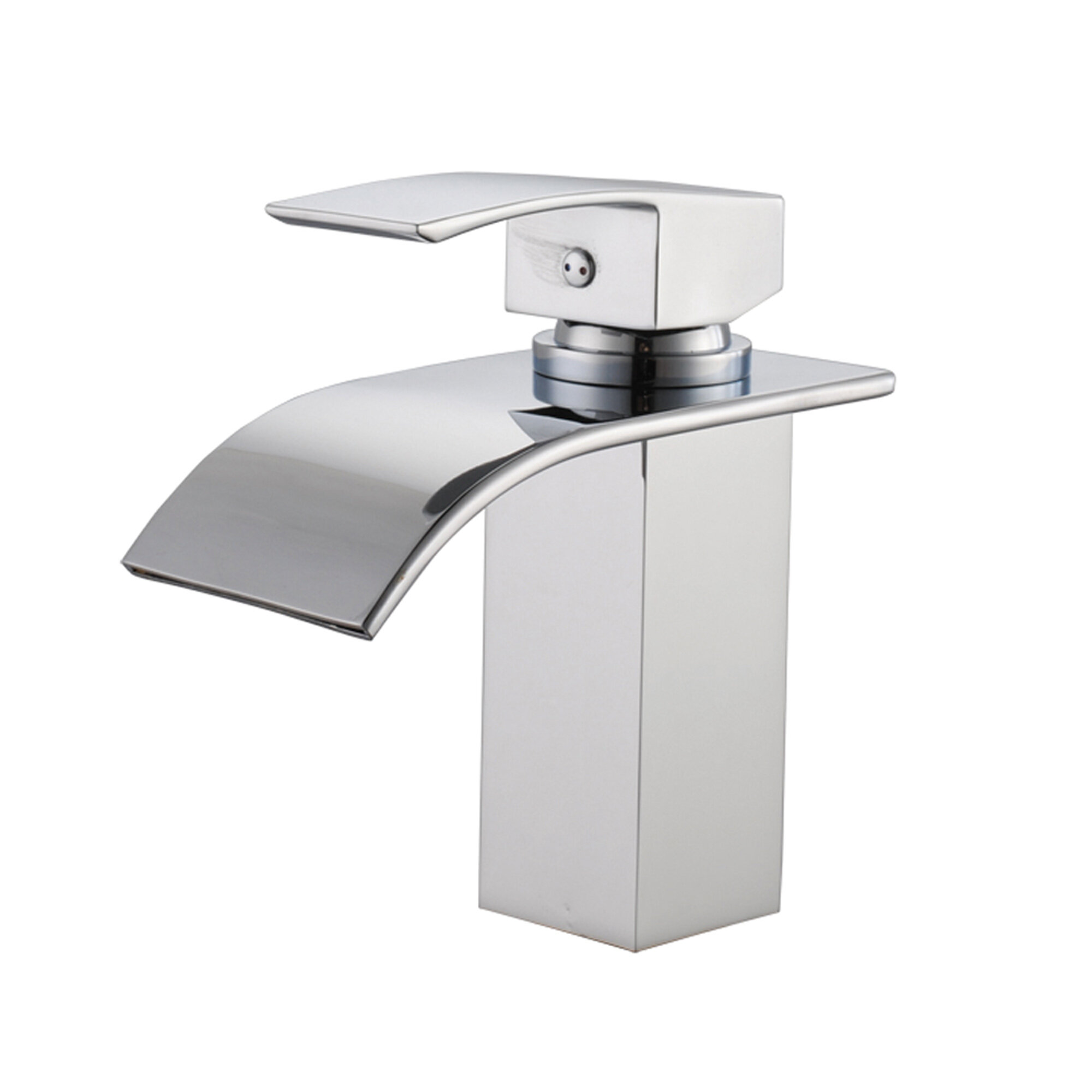 Deck Mount Waterfall Bathroom Sink Faucet with Hoses