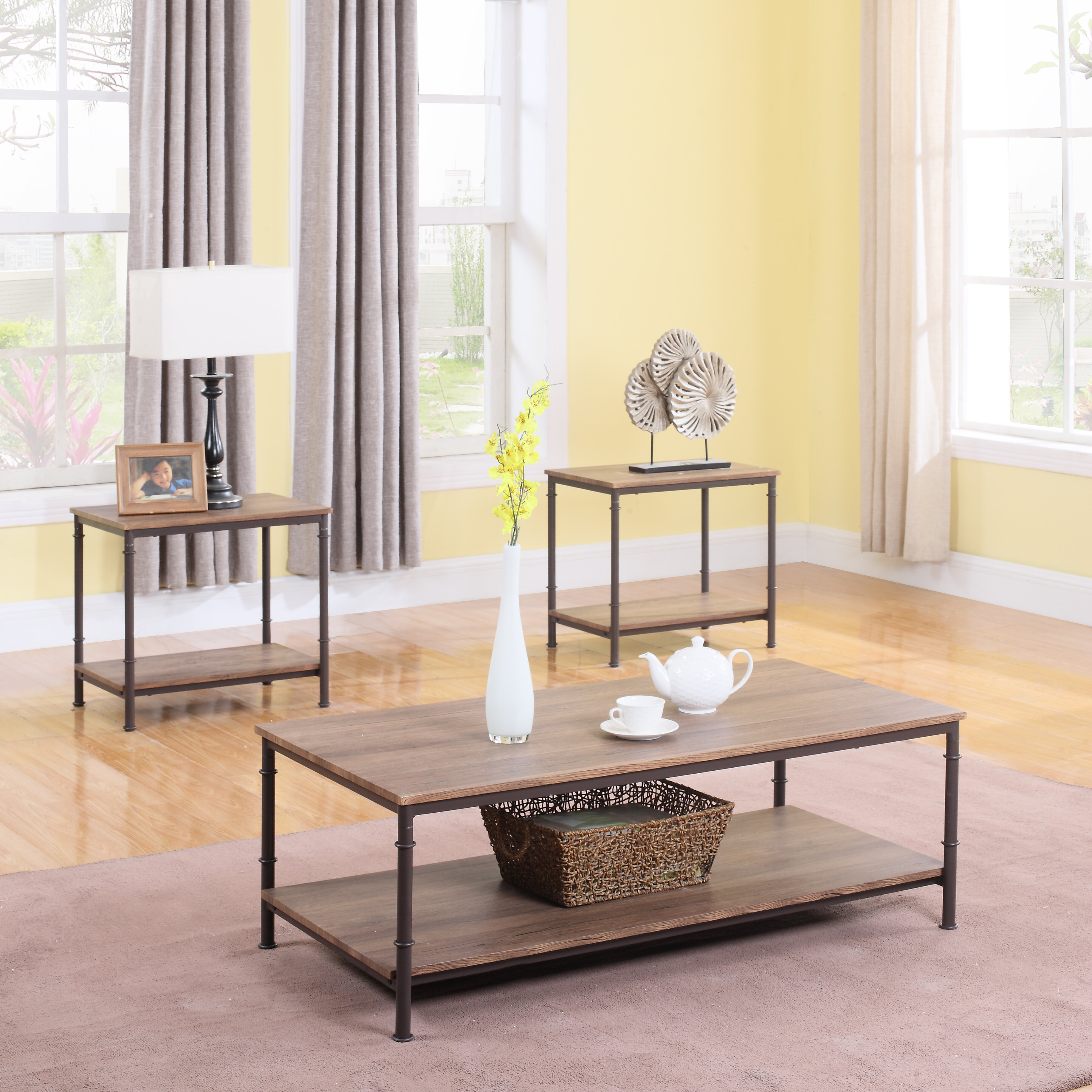 Madison Home USA 3 Piece Coffee Table Set & Reviews