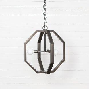 Brayden Studio Senecal 3-Light Geometric Chandelier
