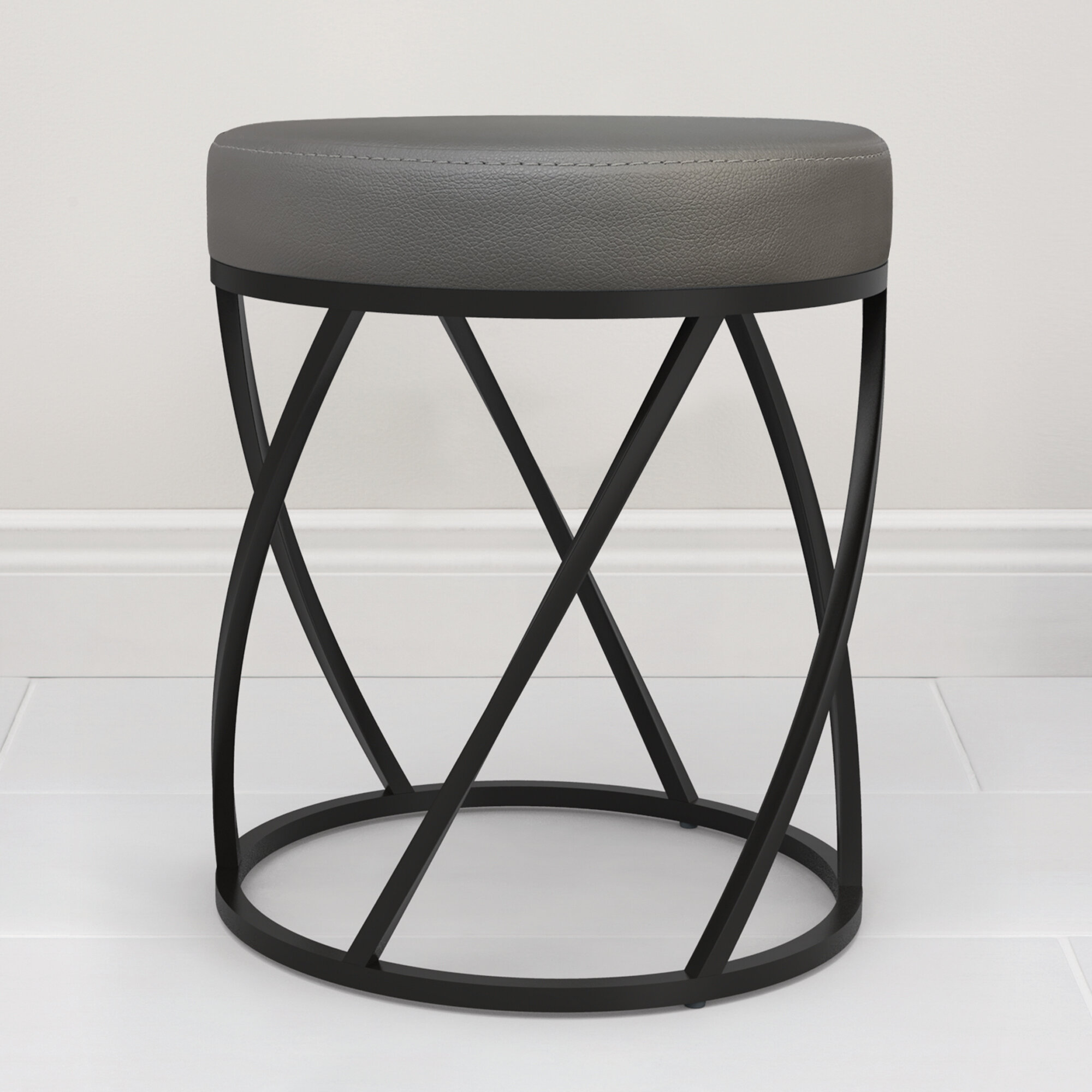 Winston Porter Isidore Vanity Stool Reviews Wayfair
