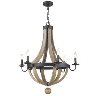 Gracie Oaks Pittman 6-Light Candle Style ..