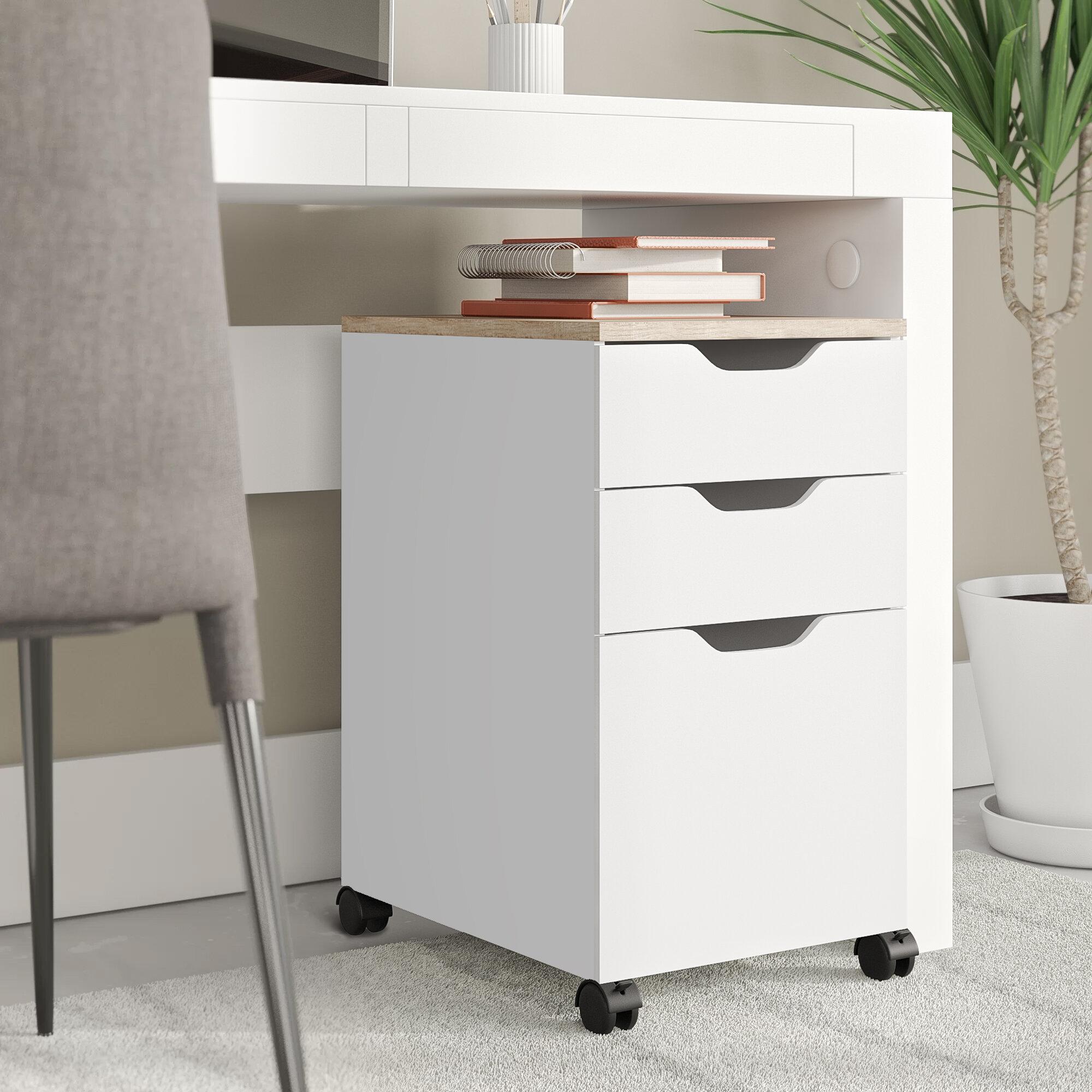 Ebern Designs Bretagne Modern Vertical Filing Cabinet Reviews