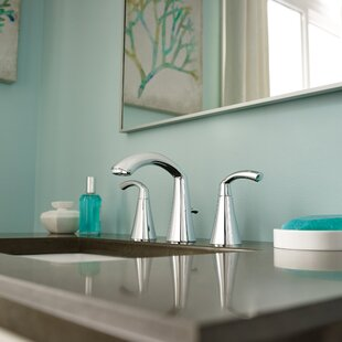 Glyde Widespread Bathroom Faucet with Drain Assembly ByMoen