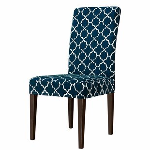 Cloud Printed Stretch Box Cushion Dining Chair Slipcover (Set Of 2) By Charlton Home