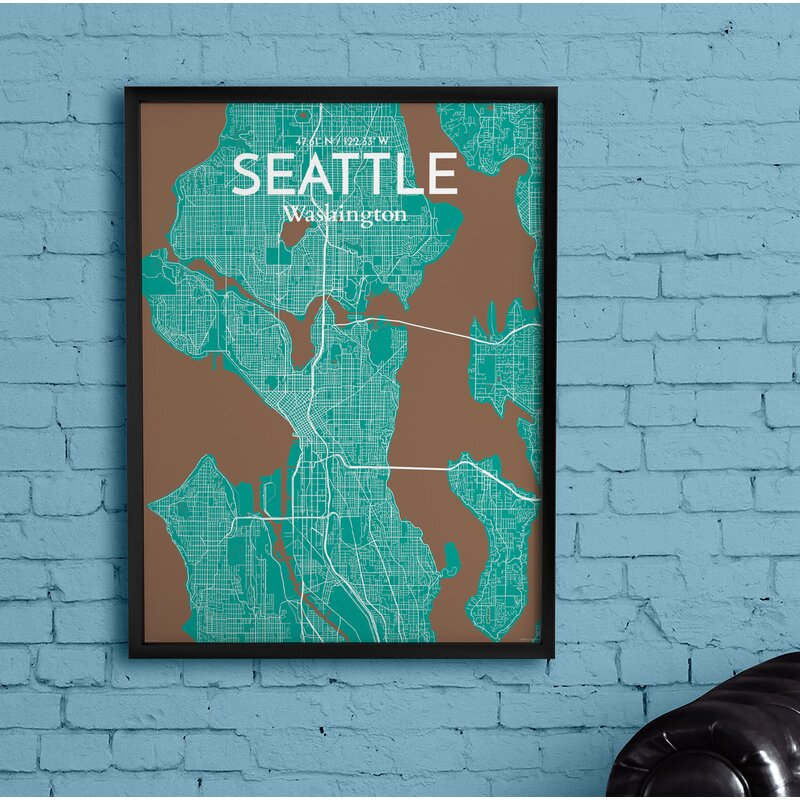 This is a picture of Printable Map of Seattle intended for neighborhood