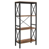 Jeannette 52 H x 24 W Metal Etagere Bookcase by 17 Stories
