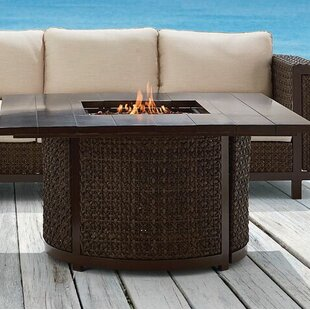 A.R.T. Epicenters Outdoor Hampden Aluminum Gas Fire Pit Table