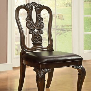 Silver Upholstered Dining Chair (Set of 2..