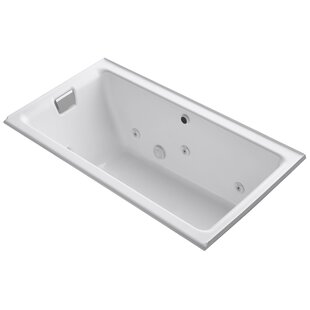Kohler Tea-For-Two Alcove Whirlpool with Left-Hand Drain and Heater without Trim