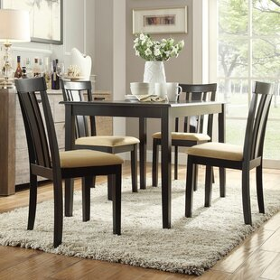 Oneill 5 Piece Slat Back Dining Set : wood dining table sets - Pezcame.Com
