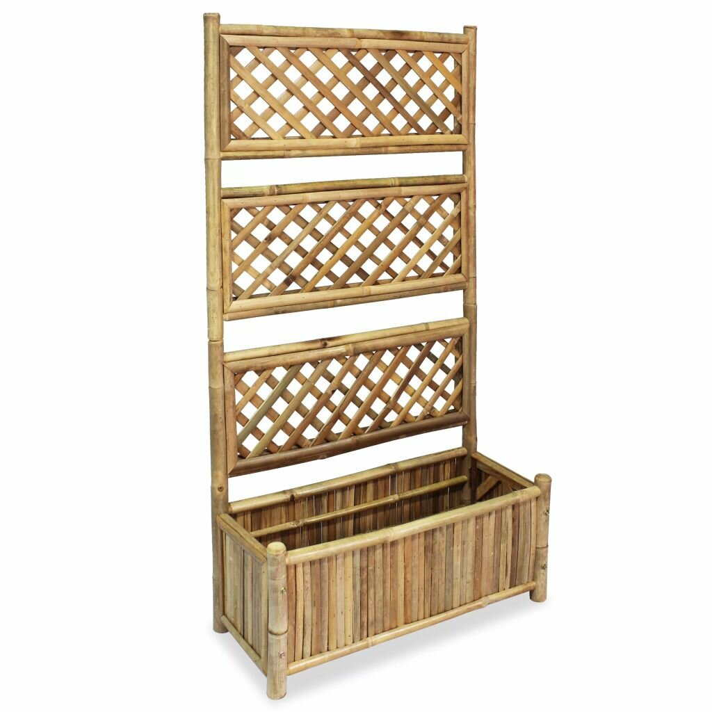 Rousseau Wooden Planter Box with Trellis