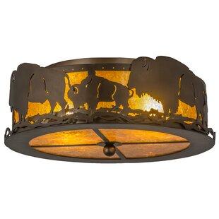 Meyda Tiffany Buffalo 2-Light Flush Mount
