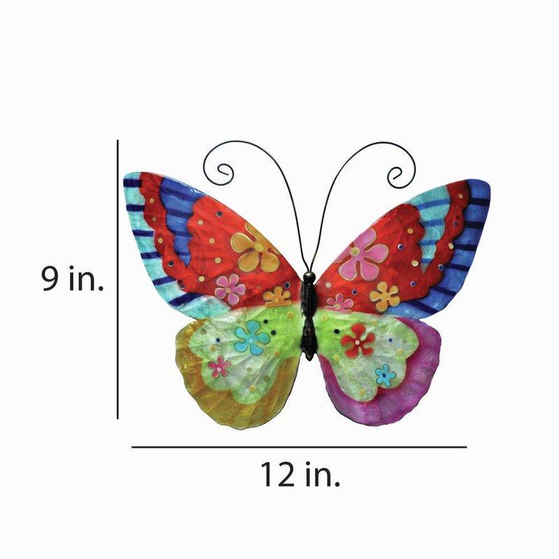 Flower Power Butterfly Wall Décor