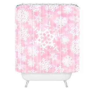 Top Reviews Clausen Snow Flurries Shower Curtain ByBrayden Studio