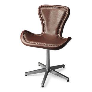 Brayden Studio Miceli Leather Desk Chair