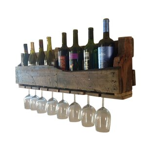 8 Bottle Wall Mounted Wine Rack by Del Hu..