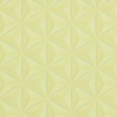 "Walls Republic Delusional 32.97"" x 20.8"" Geometric Wallpaper Colour: Yellow"
