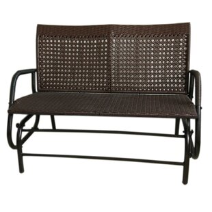 Wicker Rocking Bench
