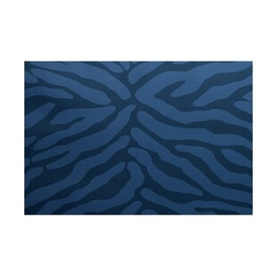 Kam Navy blue Indoor/Outdoor Area Rug