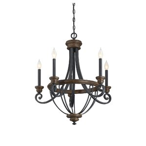 cherry 5light candlestyle chandelier