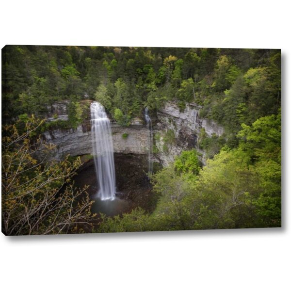 Millwood Pines Tn Fall Creek Falls A Double Waterfall Photographic Print On Wrapped Canvas Wayfair