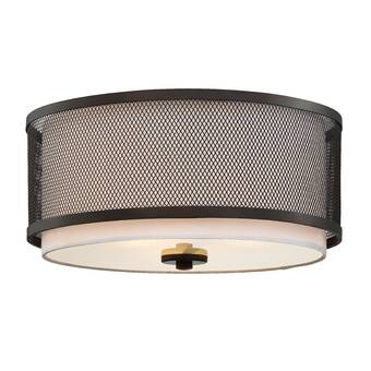 Gamero 2 Light Shaded Drum Flush Mount Reviews Allmodern