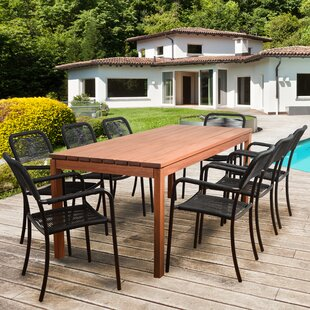 Rosecliff Heights Griswold Eucalyptus 9 Piece Dining Set