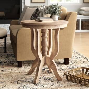 Birch Lane Solid Wood Pedestal End Table Reviews Wayfair