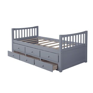 Clayhatchee Kids Twin Daybed with Trundle and Drawers by Harriet Bee