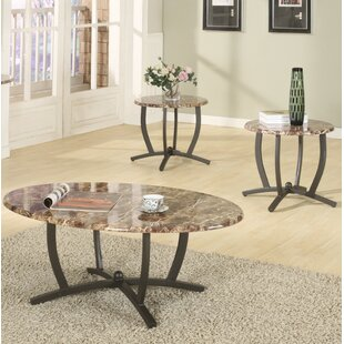 Leonard 3 Piece Coffee Table Set