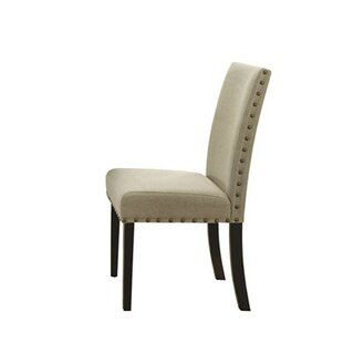 Basile Nailhead Trim Upholstered Dining Chair (Set of 2) Charlton Home