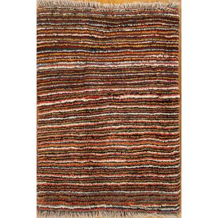 Top Reviews One-of-a-Kind Bacourt Shiraz Gabbeh Persian Hand-Knotted 2'2 x 3'1 Wool Brown/Black Area Rug By Isabelline